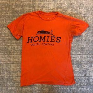 Homies T-shirt by Brian Litchenberg